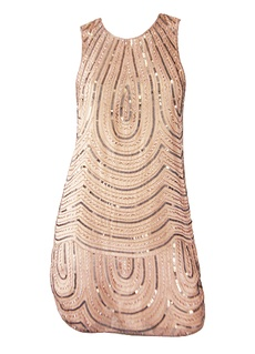 Parker Nude Pink Beaded Dress...would be lovely in a different color