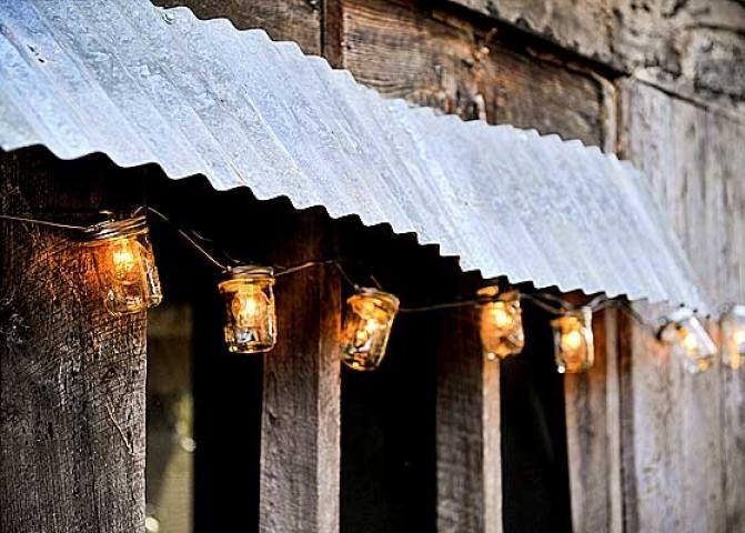 Mason Jar Lights for rustic outdoor decor
