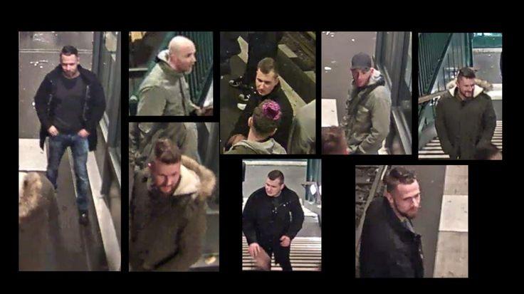 Mit Bildern aus einer Überwachungskamera sucht die Polizei Berlin vier mutmaßliche Täter nach einer gefährlichen Körperverletzung.