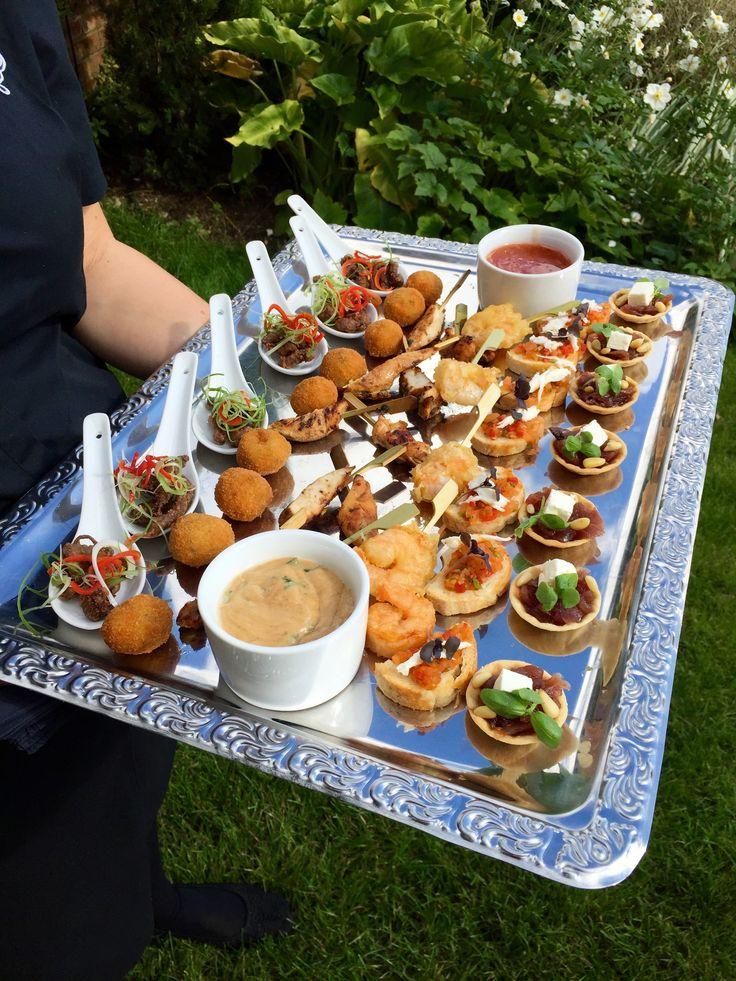 Bang Chicken Skewers Tempura Prawns Bruschetta And Feta Onion Tartlets Provided By Unique Norfolk Venues