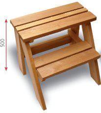 Saunajakkara 2-askelmaa leppä L=700