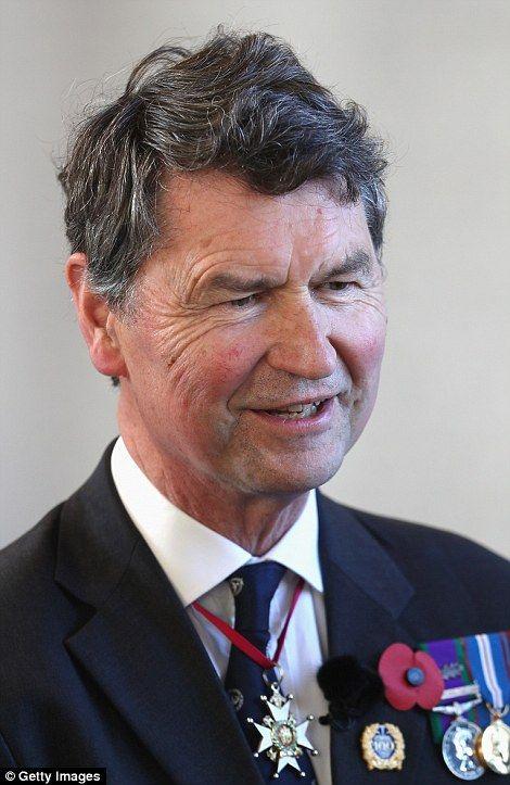 Sir Tim Laurence at Passchendaele commemoration in Belgium 30 Jul 2017