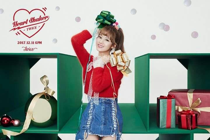 TWICE -1st Album Repackage #Sana #Merry&Happy #Heart Shaker