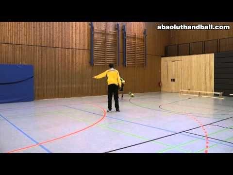 Teamhandball training for wingman - YouTube