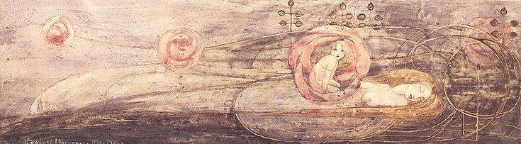 ¤ Frances MacDonald (Scottish, 1873–1921). Sleeping Princess.