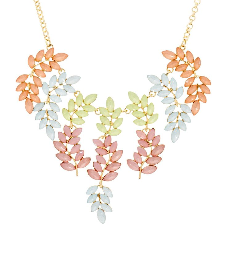 Take a look at this Susan Graver Pastel Vine Statement Necklace today!