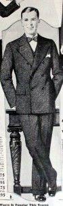 1928 Wide Leg Suit Trousers http://www.vintagedancer.com/1920s/1920s-mens-fashion-the-suit/