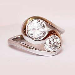 two stone ring - Google Search