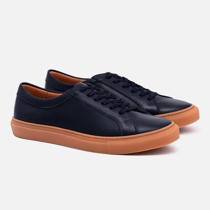 Alba Low Top Sneakers - Navy x Gum