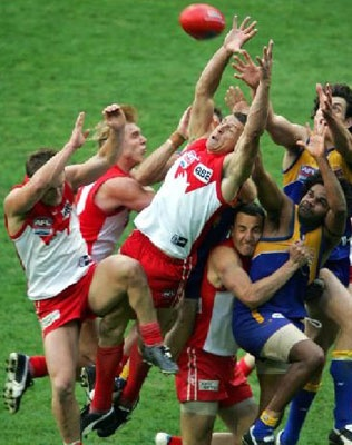 Mark of the Century - Leo Barry wins the 2005 premiership for the Swans. The first time in 72 years. Cheer Cheer....