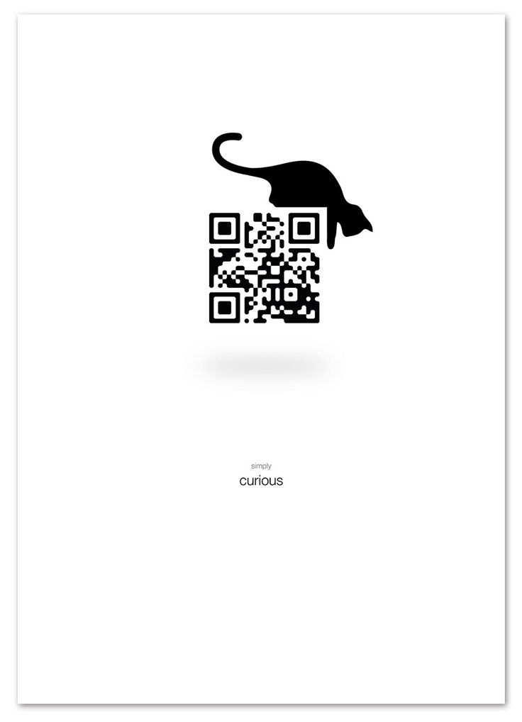 Self Promotion: Adcept: Simply curious. Scan the QR code. rachelwynn.co.uk
