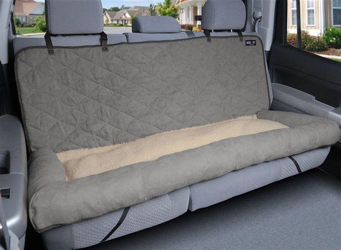 Car Cuddler - Large (brown or grey) pet seat cover #111606