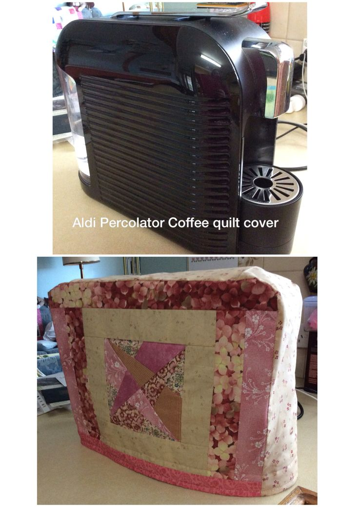 Aldi Percolator coffee quilt cover to protect from dust