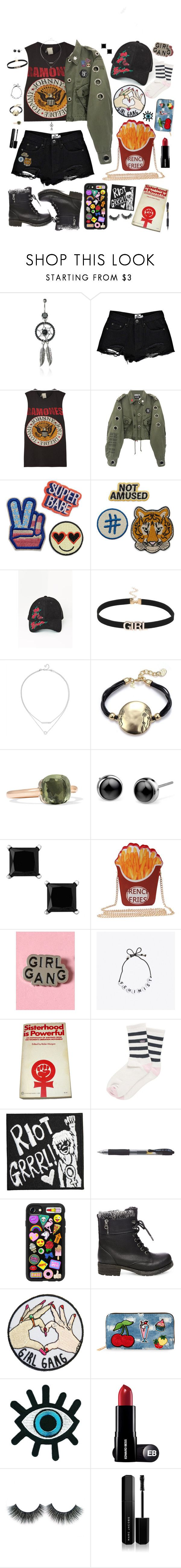 """""""Grrrl Power"""" by alexis-marie-burroughs ❤ liked on Polyvore featuring Boohoo, MadeWorn, Missguided, Pomellato, Bellastellas, Vans, Casetify, Steve Madden, Viola and Marc Jacobs"""