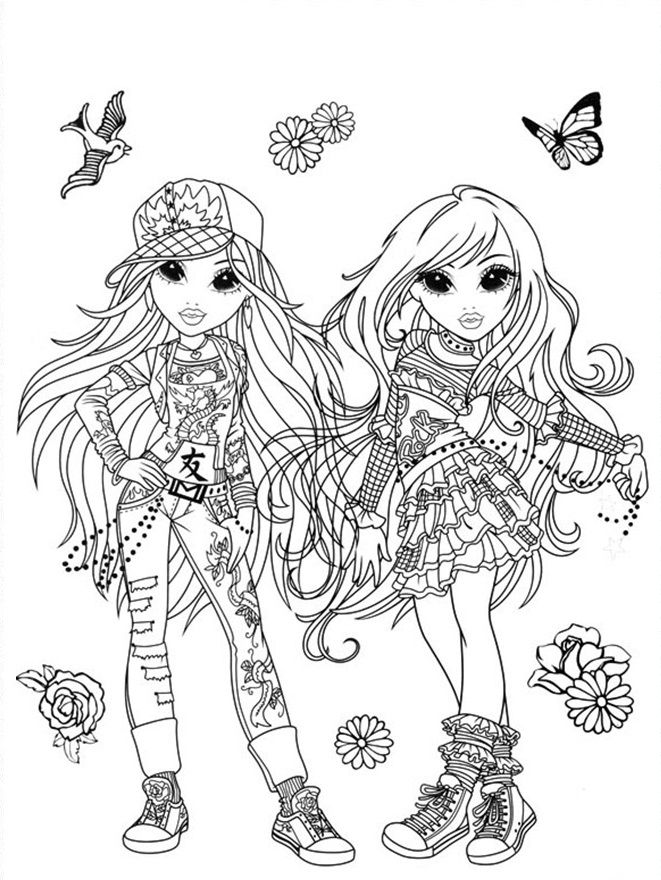 51 Best Moxie Girlz Amp Bratz Coloring Pages Images On