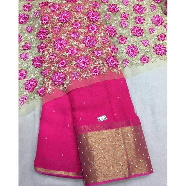 """""""Pink georgette saree with pearl beads and heavy emboridery blouse piece To purchase this product mail us at houseof2@live.com  or whatsapp us on +919833411702 for further detail #sari #saree #sarees #sareeday #sareelove #sequin #silver #traditional #ThePhotoDiary #traditionalwear #india #indian #instagood #indianwear #indooutfits #lacenet #fashion #fashion #fashionblogger #print #houseof2 #indianbride #indianwedding #indianfashion #bride #indianfashionblogger #indianstyle #indianfashion…"""
