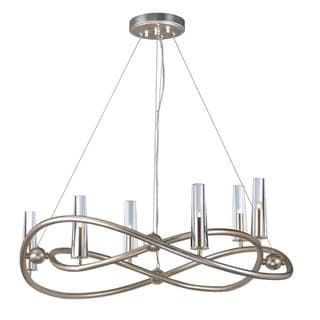 Entwine 6-light 31.5″ Wide Metal Chandelier – golden silver
