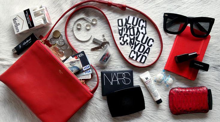 Celine Trio crossbody bag large in red | Walk in Closet ...