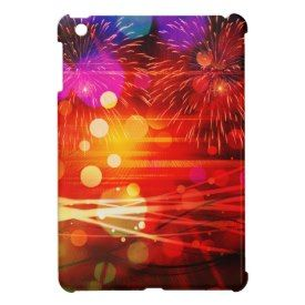 Light Up the Sky Light Rays and Fireworks Case For The iPad Mini