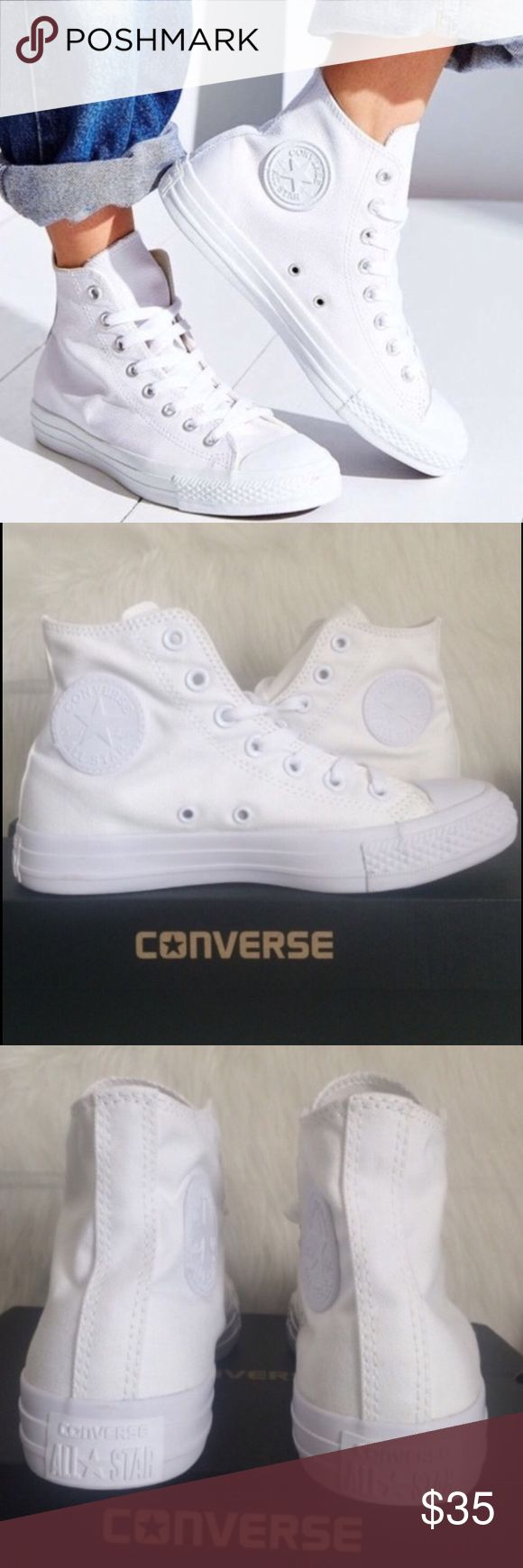CONVERSE WOMENS SIZE 5 ALL WHITE CHUCK TAYLORS Size 5 WOMENS Converse Shoes Sneakers