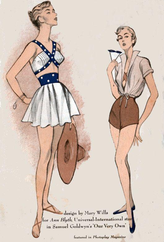 1950s Advance 5516 Designer Bombshell Bathing Suit by sandritocat, $150.00