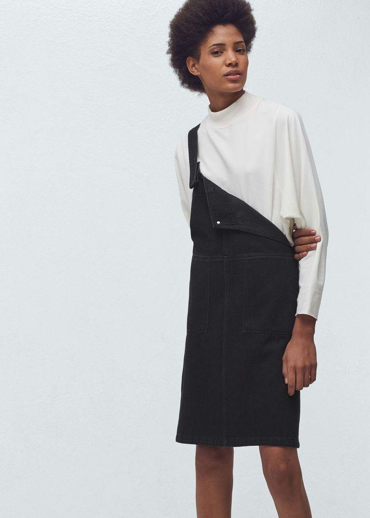 Siyah kot jile elbise | MANGO