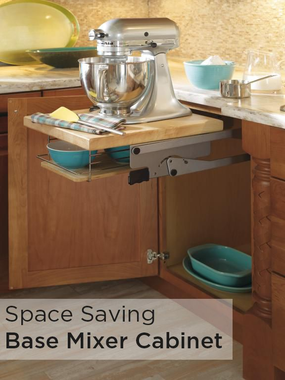mix and bake with added countertop space with this base mixer cabinet by schrock