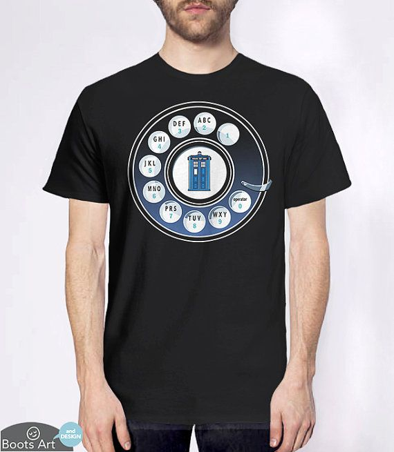 """Call the Doctor"" Doctor Who Geek Shirt  100% Tshirt by BootsArt on Etsy. - $16.50"