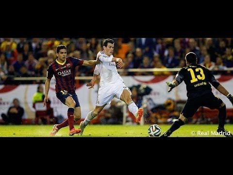 Gareth Bale's incredible goal against Barcelona | Copa del Rey Final 2014. My favorite goal of all time