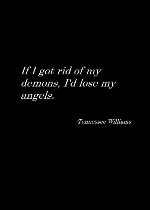 demon, quote, and angel image