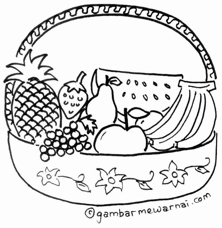 fruit baskets coloring pages | 1000+ images about mewarnai on Pinterest | Toyota, Its you ...
