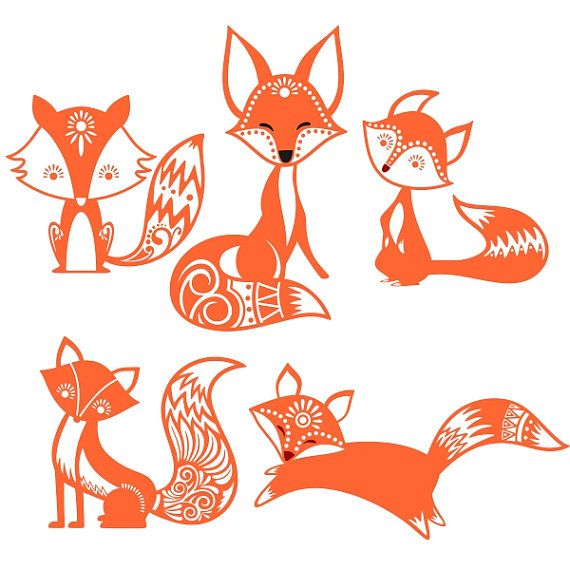 Cute Fox Cuttable Design SVG, DXF, EPS use with Silhouette Studio & Cricut…