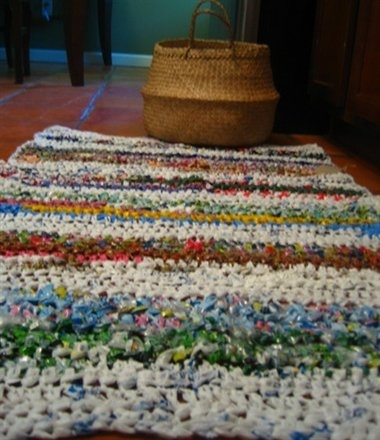Creative Re-Use: Plastic Bag Rugs
