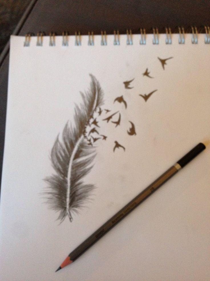 Dessin plume oiseau qui s 39 envole tatouage tatouage - Tatouage oiseau qui s envole ...