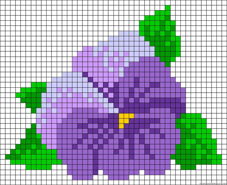 Looks like a pansy to me....Hibiscus flower perler bead pattern