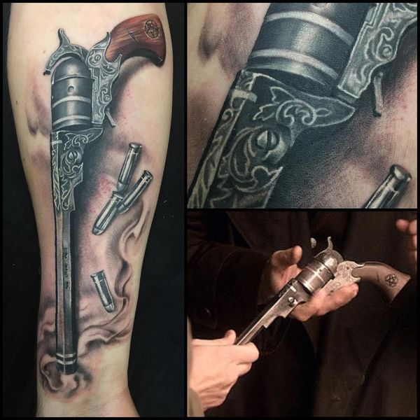 "64fa9b4c1 Half-sleeve colt from ""Supernatural"" tattoo 