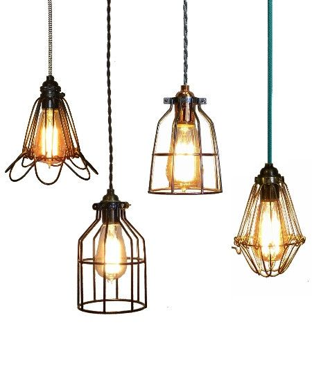 Kitchen Lighting Examples: Custom Cage Pendant Light With A Cage Examples