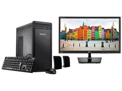 """Computador Positivo Premium DR8560 Intel Core i5 - 4GB 1TB Windows 10 + Monitor LG LED 19,5"""" com as melhores condições você encontra no Magazine 233435antonio. Confira!"""