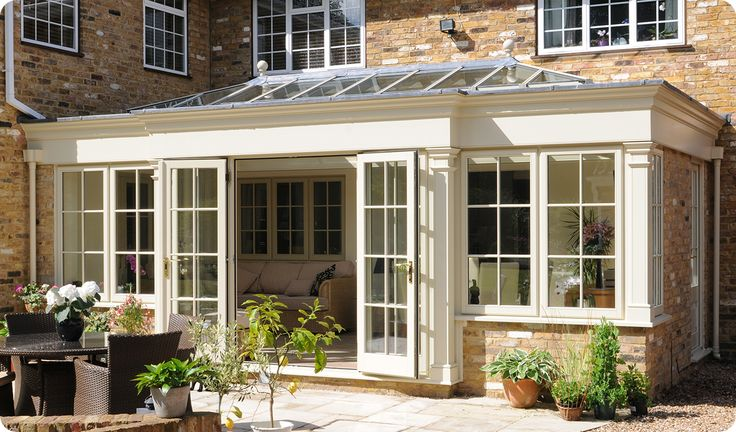 glass conservatory additions | If you go with the wooden orangery glass extensions for homes, then ...