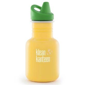 Klean Kanteen drikkedunk i stål, sippy cap, school bus.  Gerne i gul, eller anden farve end blå som Gudrun har.