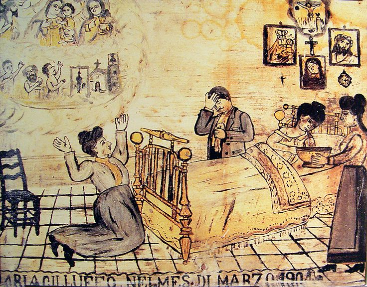 Woman suffering from tuberculosis, 1904, oil on tin. Courtesy Giuseppe Maimone Editore, Catania and Mario Alberghina