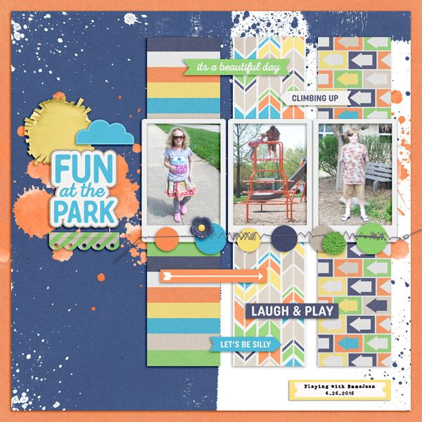 Park Play Kit from Peppermint Creative #play #kids #outside #digiscrap #digitalscrapbooklayout #digitalscrapbook #layout by @keela