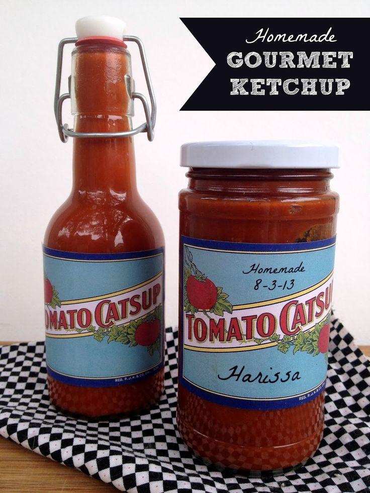 * Rook Nr 17: Rezepte, Handwerk & whimsies für die Verbreitung von Freude *: Rezept: Hausgemachte Gourmet Ketchup + a Druckbare Klassiker Ketchup Etikett