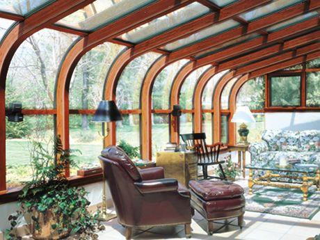 Curved Wood Solarium Solarium Room Sunroom Home Porch