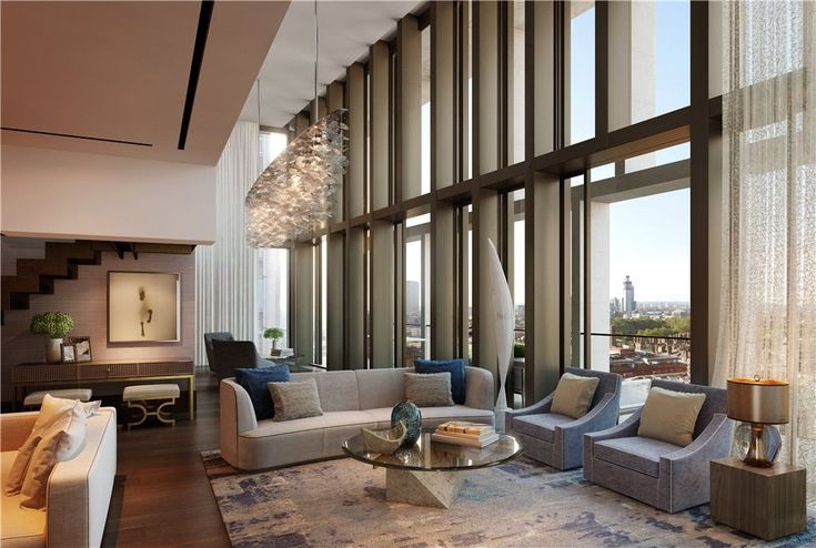 British Penthouse in London, England   |   This beautiful home features a rich palette of natural materials with refined beautiful finishes that create a neutral canvas. With views of nearby Buckingham Palace and the skyline of central London beyond, you're living in the heart of one of the greatest cities in the world.  via @struttandparker