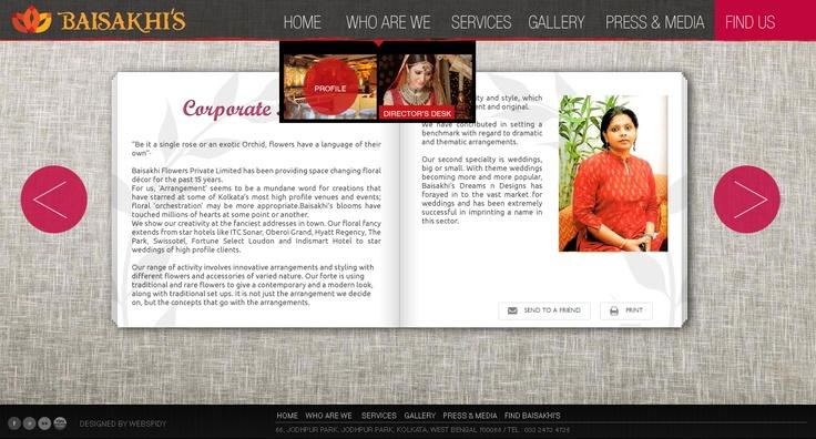 Profile Page #florist #website