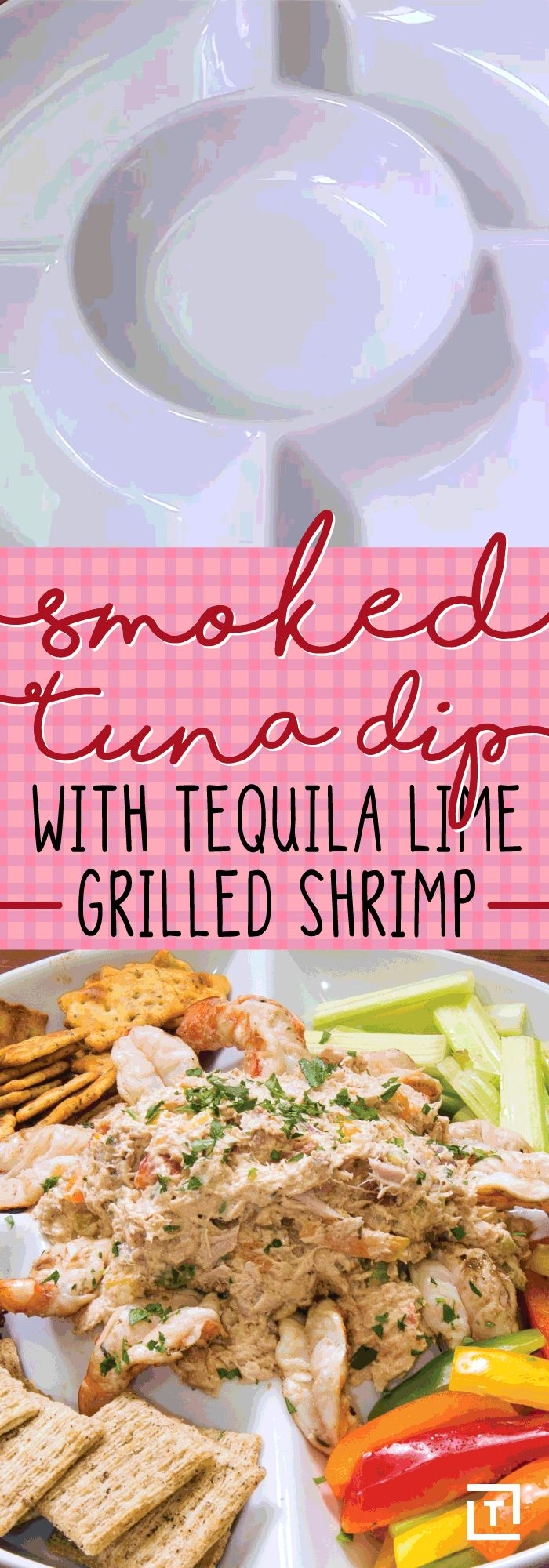 Chips and dip are so old news. Make this smoked tuna dip with tequila lime grilled shrimp instead, courtesy of SmokyRibsBBQ. Mix up some grilled Cajun tuna steaks with lemon juice, cream cheese, parsley, red onion, and more. Serve it alongside shrimp marinated in a tequila, lime, and cumin for the ultimate dipping platter from the sea.