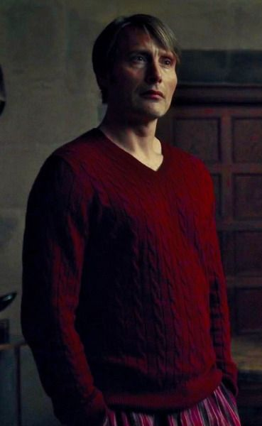 Hannibal (red sweater with stripey PJ pants XD)