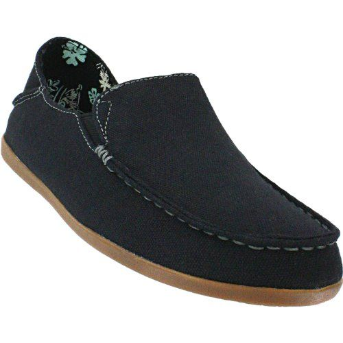 Olukai Nohea Canvas Womens Comfort Shoe Black Charcoal 6 >>> Check out the  image
