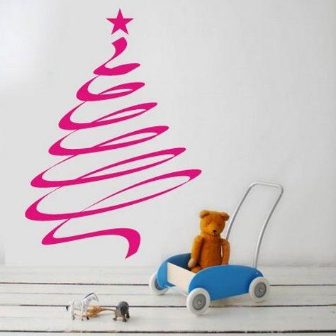 Vinilo rbol de navidad vinilos pinterest navidad - Vinilos de arboles ...